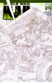 World War Hulk #3 Convention Sketch Variant Marvel comic book